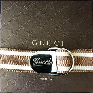 Gucci Accessories - Gucci Woven Logo Belt